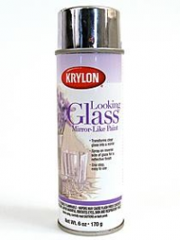 krylon looking glass spray mirror like paint transforms clear glass. Black Bedroom Furniture Sets. Home Design Ideas