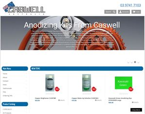 Caswell Australia  DIY Chrome Plating kit, Aluminum Anodizing kits