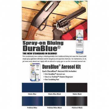 DuraCoat DuraBlue Aerosol Finishing Kit- POLISHED BLACK
