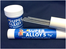 Cecil Muggy Super Alloy 5 3/32 Aluminum Alloy Rods and Powder Flux