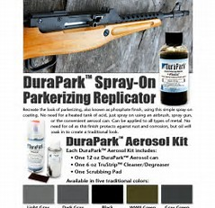 Duracoat DuraPark Aerosol Kit - Spray on Parkerizing Replicator - BLACK