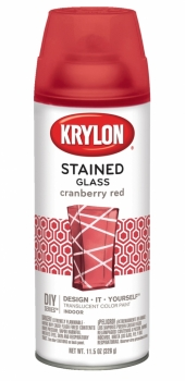 KRYLON STAINED GLASS - CRANBERRY RED