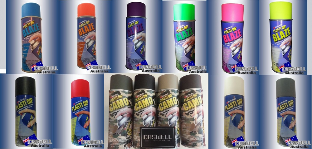 Plasti Dip Spray On Coating Colour Selection Caswell Australia