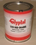Glyptal Brush On Red Enamel 1 Quart