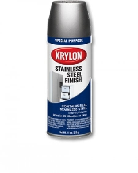 krylon stainless steel finish spray paint this durable finish can be. Black Bedroom Furniture Sets. Home Design Ideas